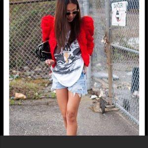 H&M red rose blazer